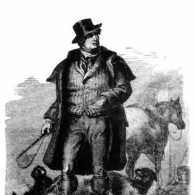 Dandie Dinmont and his Terriers from a painting by Sir Walter Scott